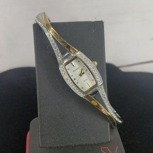 Armitron Now Silver Gold Jeweled Band Women watch